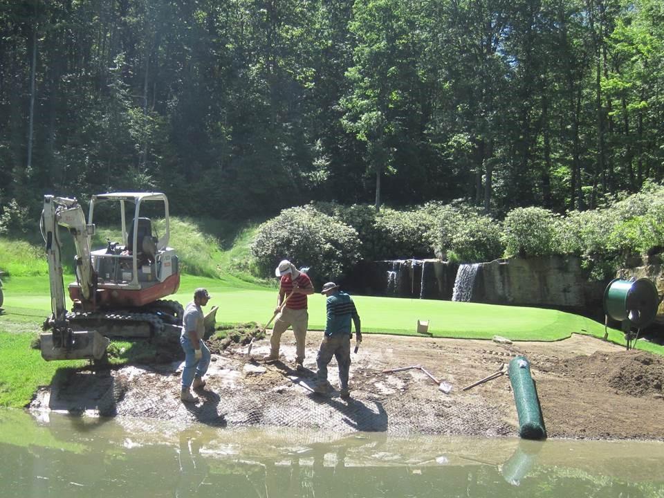 Pikewood National Golf Club<br/>Pond Bank Repair